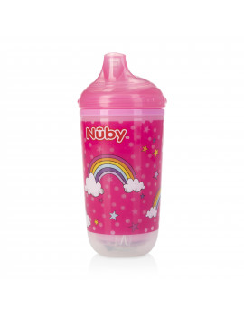 Nuby 10 Oz. No-Spill Insulated Light Up Rainbows Easy Sip Cup