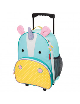 Skip Hop Zoo Kids Rolling Carry-on Luggage, Unicorn