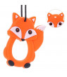 Siaonvr Cartoon Foxes Infant Baby Teether Silicone Pacifier Soother Teething Toy Pendant