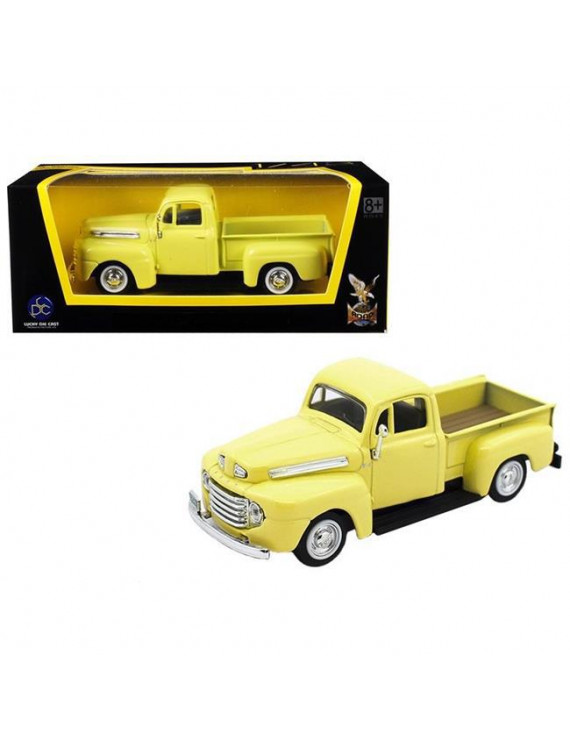 1948 Ford F-1 Pickup Truck Yellow 1/43 Diecast Model Car by Road Signature