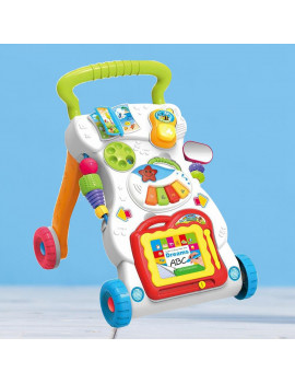 Baby Kids Walkers Toy Cartoon Walker Stroller Multifunctional Baby Toddler Musical Toy