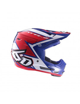 6D Helmets 2019 Youth ATR-2Y Strike Offroad Helmet - Red/White/Blue - Youth Small