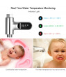 LED Digital Shower Temperature Display 0~100℃ Baby Bath Water Thermometer Celsius/ Fahrenheit Display 360° Rotating Screen for Home Kitchen Bathroom