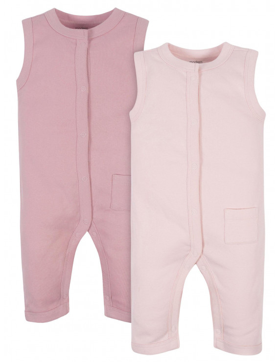 Modern Moments by Gerber Baby Girl Rompers, 2-Pack