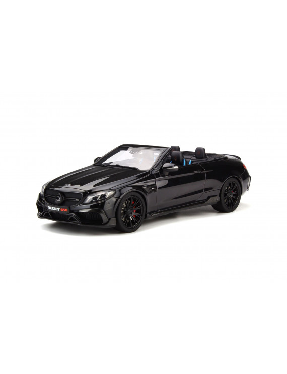 Mercedes Benz Brabus 650 Convertible Black Limited Edition to 500 pieces Worldwide 1/18 Model Car by GT Spirit