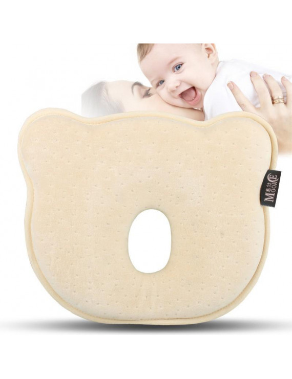 Flat Head Shaping Baby Pillow - Newborn Infant to Prevent Flathead or Plagiocephaly Syndrome | Soft Memory Foam Cushion | 0-12months