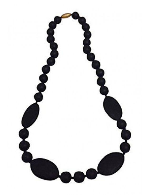 Fashionable Silicone Teething Necklace for Mom to Wear with Teething Baby - Jasmine (Lilac)