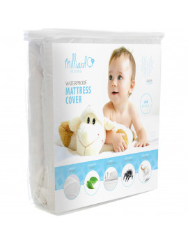 "Milliard Premium Baby Crib Mattress Pad Hypoallergenic Waterproof Quilted Cotton Blend , 28"" x 52"" x 6"""