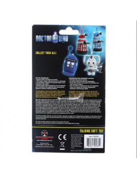 "Doctor Who White Dalek 4"" Talking Plush Clip On"