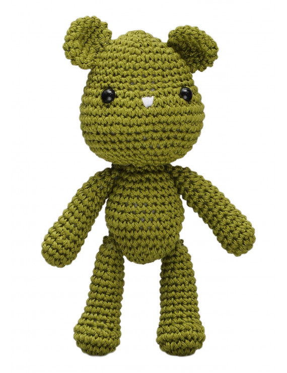 Green Teddy bears Handmade Amigurumi Stuffed Toy Knit Crochet Doll VAC