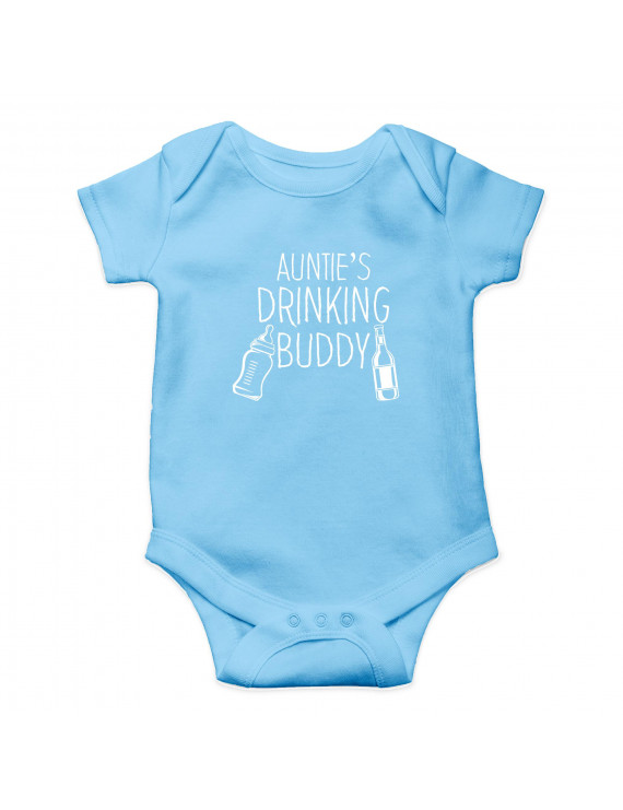 Auntie's Drinking Buddy - I Have The Best Aunt In The World - Cute One-Piece Infant Baby Bodysuit