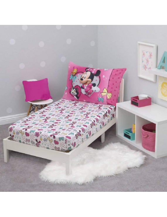 Minnie Mouse 2 Piece Toddler Sheet Set - (Fits Toddler Bed Only)