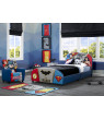 Delta Children DC Comics Justice League Upholstered Bed, Twin, Blue