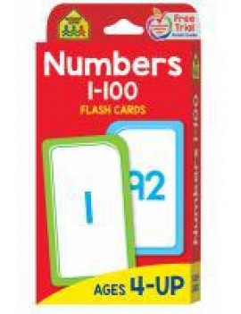Flash Cards - Numbers 1-100 - School Zone