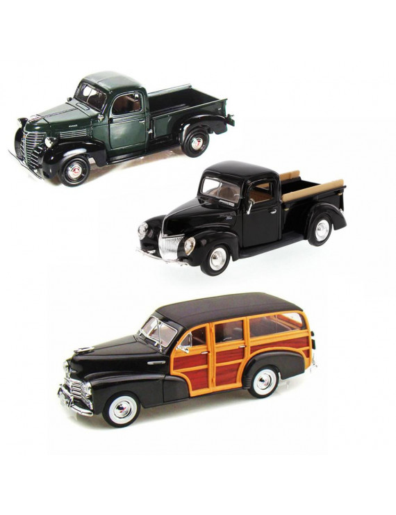 Best of 1940s Diecast Cars - Set 16 - Set of Three 1/24 Scale Diecast Model Cars