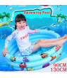 90/130cm Cool Summer Parent-child Activities Baby Swimming Pool Inflatable Kids Pool Outdoor Indoor Bathing Tub