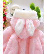 Lovely Baby Girl Kids Winter Warm Hooded Coat Rabbit Bunny Outerwear Clothes Outfit