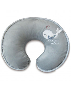 Boppy Luxe Nursing Pillow and Positioner, Gray Whales
