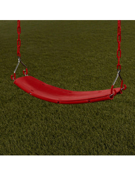 Creative Cedar Designs Beginner Swing Seat with Chains, Red