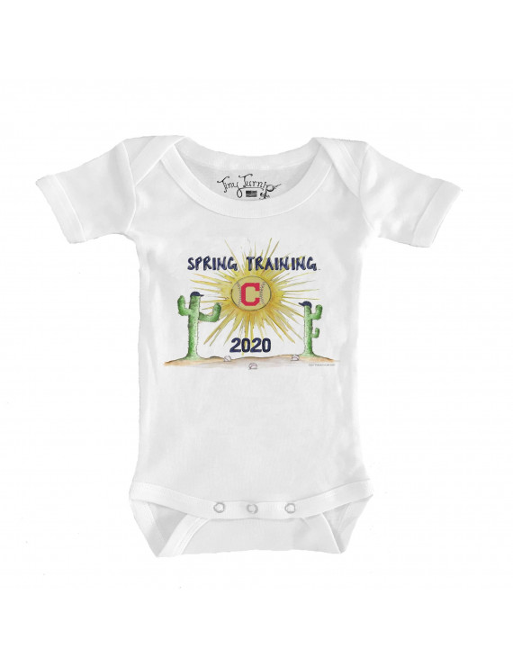 Cleveland Indians Tiny Turnip Infant 2020 Spring Training Bodysuit - White