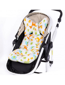 1Pcs Baby Stroller Cushion Pad, Cotton Breathable Stroller Car High Chair Seat Cushion Liner Mat Cover Protector for Baby Kid Toddler Infants