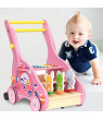 Iuhan Wooden Baby Learning Walk er Toddler Toy Stroller Push-pull Toy