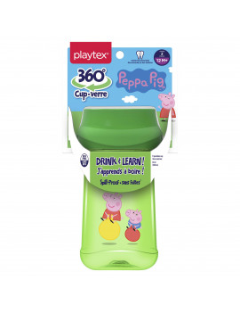 Playtex Baby 360 Spoutless Sippy Cup Peppa Pig 10 oz - 1 Pack (Assorted Patterns)