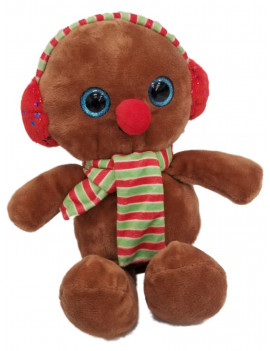 Hug Fun Small Gingerbread Man Plush 10 inch Stuffed Pal with Sparkle Eyes