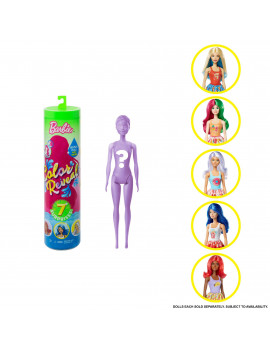 Barbie Color Reveal Doll Foodie Series Doll with 7 Surprises Including Scented Wig (Styles May Vary)