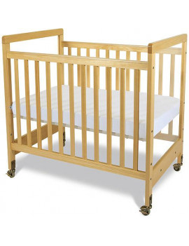 Foundations SafetyCraft Clearview Portable Crib with Mattress Natural
