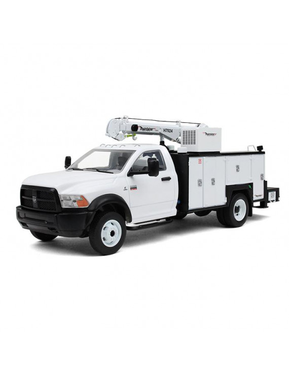 RAM 5500 with Maintainer Service Body White 1/34 Diecast Model by First Gear