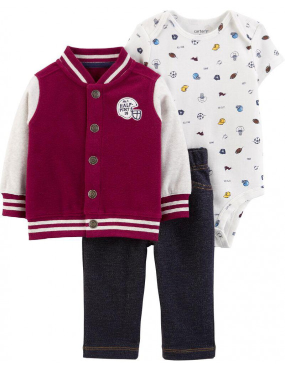 Carter's Baby Boys' Cardigan Sets - Half Pint- 12 Months