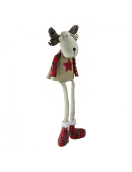 """14.75"""" Elk with Dangling Legs Tabletop Decoration"""
