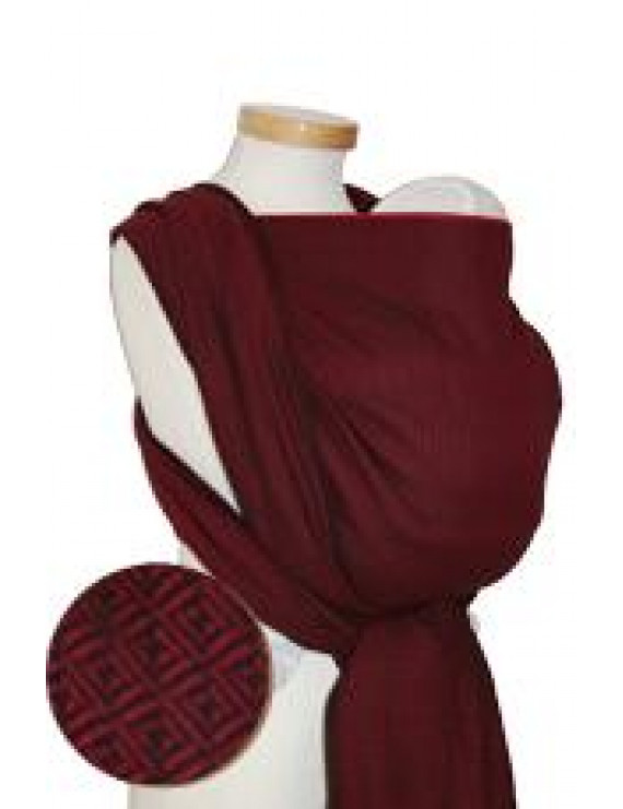 Storchenwiege Leo Bordeaux wrap