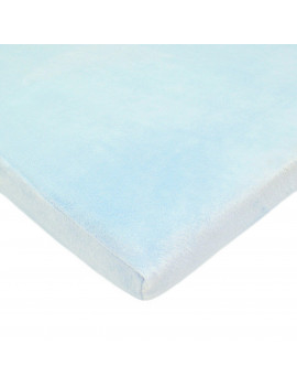 ***DISCONTINUED*** TL Care Heavenly Soft Chenille Bassinet Sheet, Blue