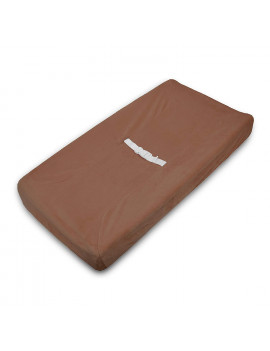 American Baby Company Heavenly Soft Chenille Fitted Contoured Changing Pad Cover, Chocolate, for Boys