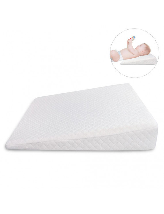 Akoyovwerve Memory Resilience Cotton Detachable Slope Shaped Shaping Pillow Milk Anti-Reflux Pillow For Baby