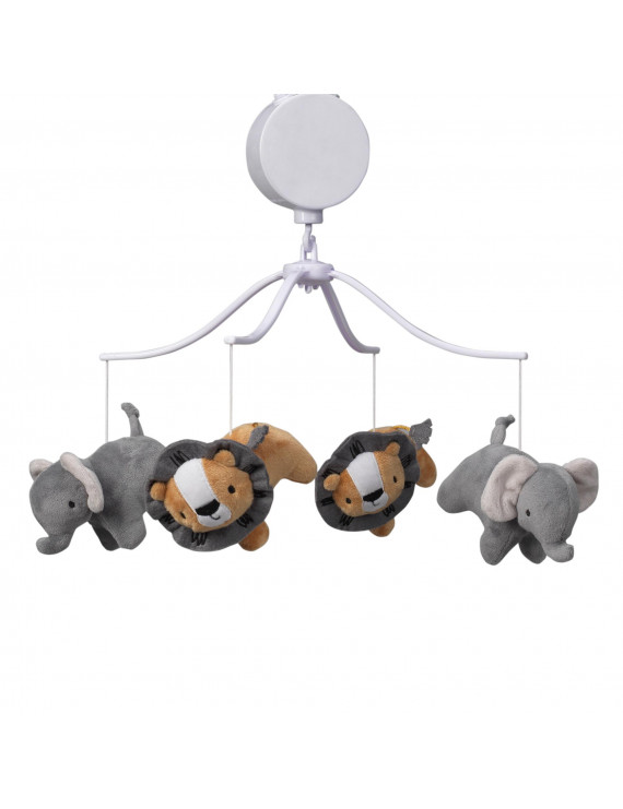 Bedtime Originals Jungle Fun Musical Baby Crib Mobile - Gray, Animals, Jungle