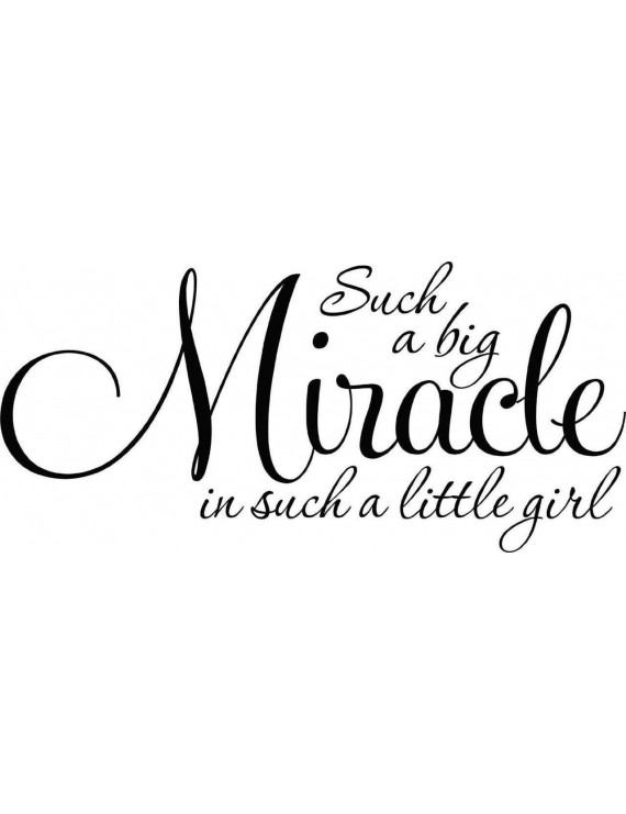 Custom Wall Decal Such A Big Miracle Is Such A Little Girl Baby Bedroom Nursery Decor - Vinyl Wall 12x24