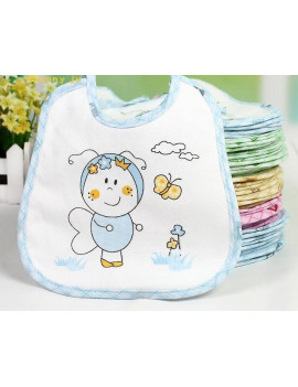 10pcs/Lot Baby Boy Girl Newborn Kids Bibs Waterproof Saliva Towel Bib New