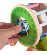 Treefloewr Wooden Shape Pull Toy - Wooden Puzzle Educational Toy Toddler Learning Toy