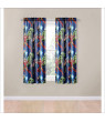 Marvel Avengers Blue Circle Boys Bedroom Curtains Set, 2 Count