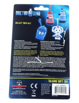 "Doctor Who Yellow Dalek 4"" Talking Plush Clip On"