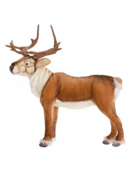 "47"" Life-Size Handcrafted Extra Soft Plush Nordic Reindeer Stuffed Animal"