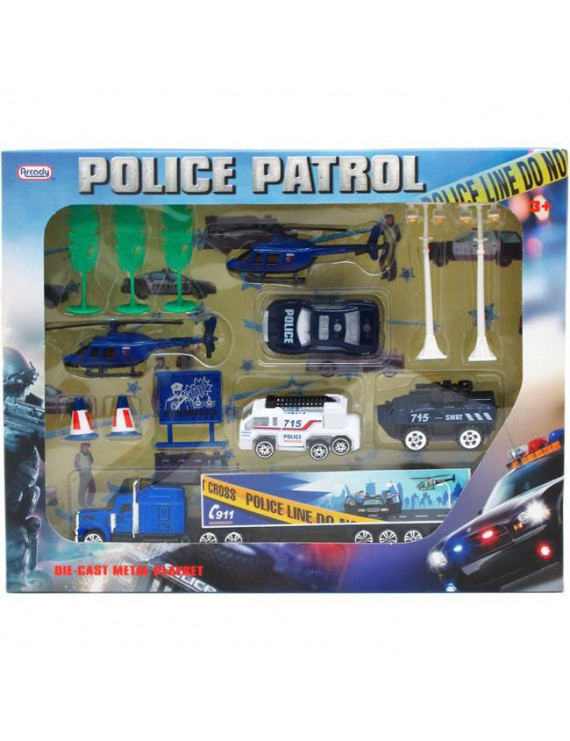 DDI 2340932 Diecast Police Play Set with Accessories - 14 Piece - Case of 18