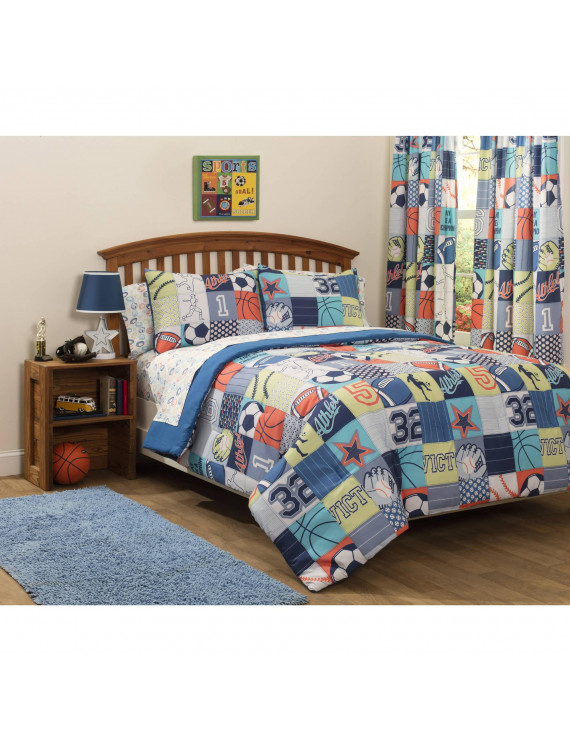 Mainstays Kids Play Like A Champion Comforter Bedding Set