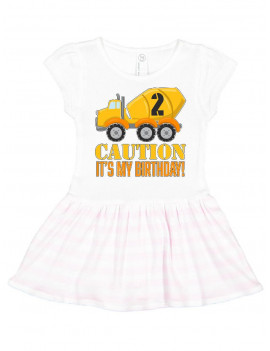 2nd birthday construction truck, cement mixer - 2 years old Toddler Dress
