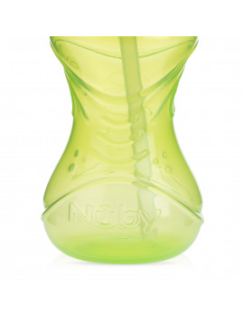 Nuby 10oz Clik-It Cup with Flexi-Straw 2 Pack, Neutral Assortent