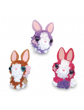 PlushCraft 3D Mini Bunny Pack - Fabric Craft by Numbers Kit