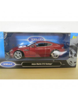 1 by 24 2010 Aston Martin V12 Vantage Diecast Model Car, Red
